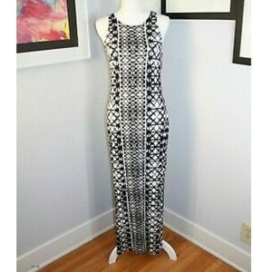 Mossimo Black and White Patterned Maxi